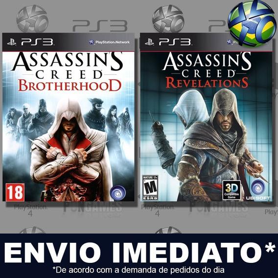 Assassins Creed Brotherhood + Revelations Ps3 Psn Jogo Play3