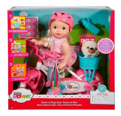 Imagem 1 de 3 de Boneca Little Mommy Bicicleta