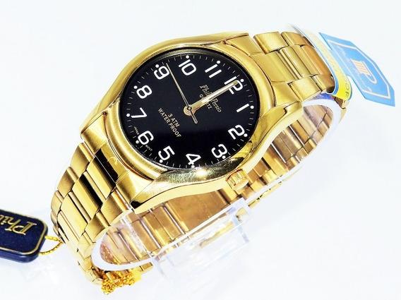 Relógio Masculino /foliado A Ouro/ Prova D