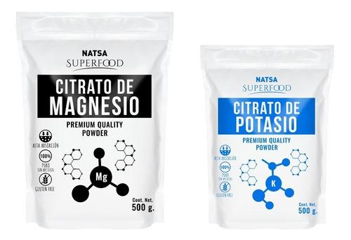 500 Grs Citrato De Magnesio + 500 Grs Citrato De Potasio