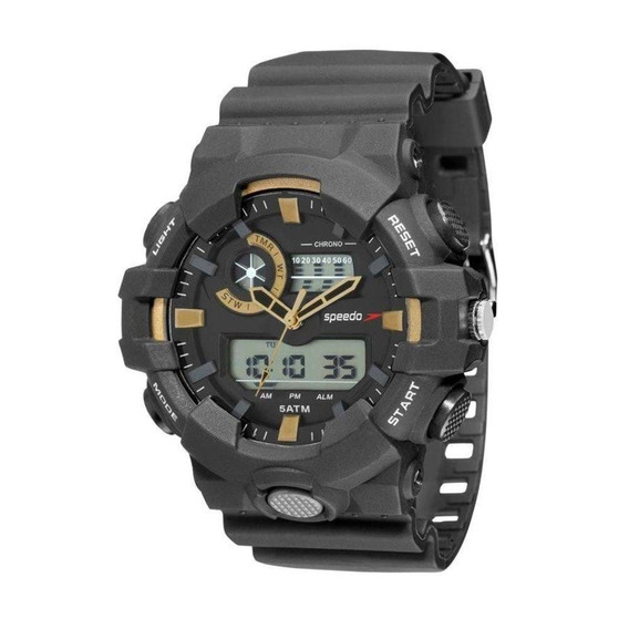 Relógio Masculino Speedo 81156g0evnp1 Anadigi Preto