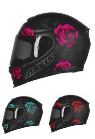 Capacete Feminino Axxis Eagle Fechado Flowers Flores Rosas