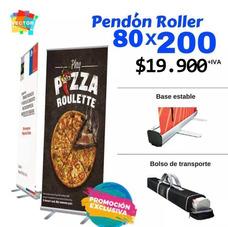 Pendon Roller Publicitario Pendones Lienzos Tela Pvc Alta