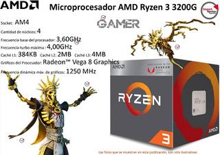 Microprocesador Amd Ryzen 3 3200g 3.6 C/radeon Vega 8 Am4