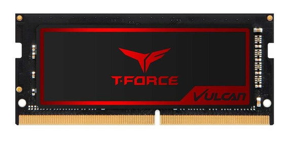 Memoria Ram 8gb T-force Vulcan So-dimm Ddr4 2666mhz (pc4-21300) Cl18 Gaming Momery With Super-slim Graphene Coppe