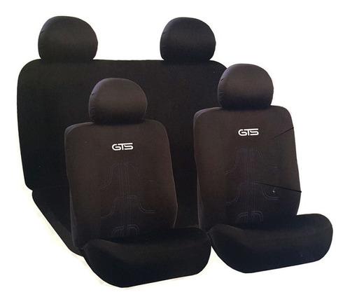 Imagen 1 de 1 de Cubre Asientos Gts Negro Costuras Gris Polyester Resistente