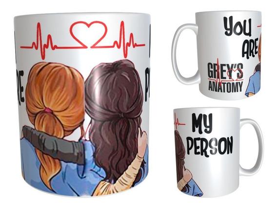 Taza Greys Anatomy You Are My Person Meredith Grey Ellen Pompeo Cristina Yang Sandra Oh Impala Design #10 Anatomia