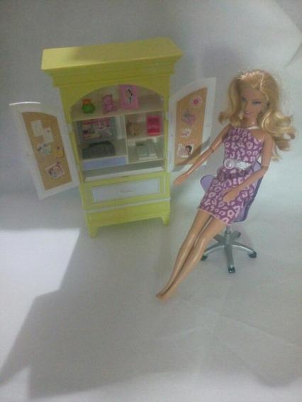 Escritório Antigo Da Boneca Barbie