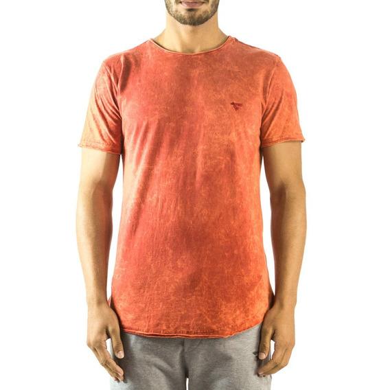 Camiseta Longline Curve Sky Brohood Vermelho