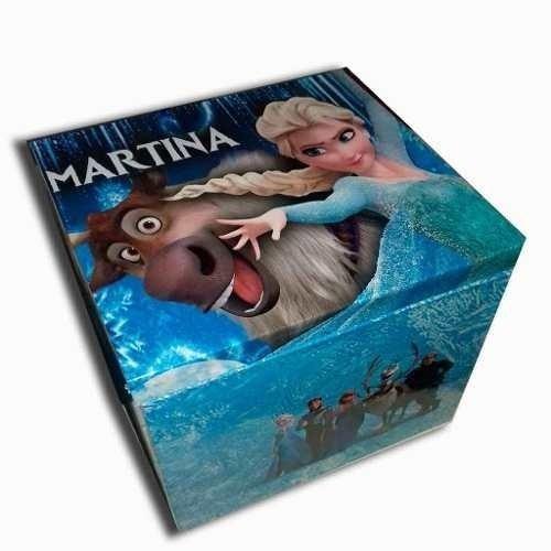 Frozen Caja De Madera Cubicax 70 Unidades