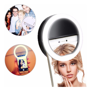 Luz De Selfie Ring Light Flash Led Anel Celular Recarregável