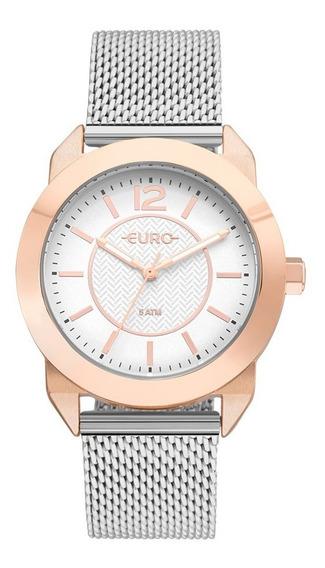 Relogio Euro Feminino Eu2036ylt/4j Prata Rose Oferta