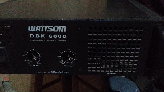 Amplificador Potencia Wattsom Ciclotron Dbk 6000