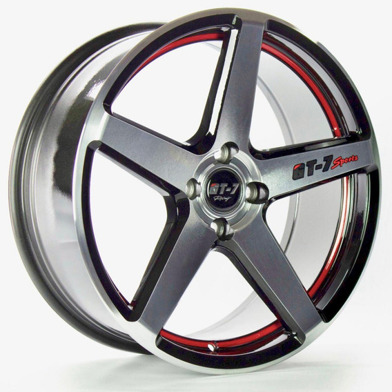 Roda Gt7 C-spec 2 / Aro 15x6 / Preta Red Diamantada (4x100)