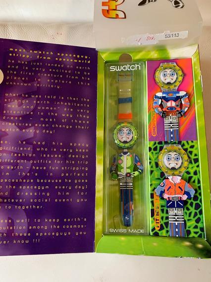 Relogio Swatch Raro.space Wolrdguy,strepp.ed.limitada,53/113