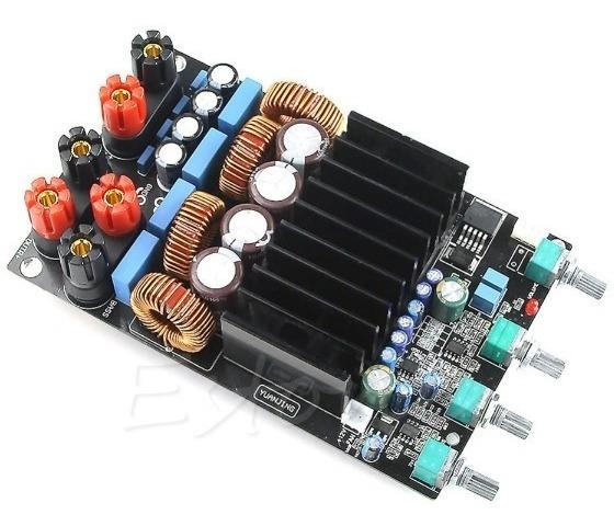 Placa Amplificador 2.1 150+150+300 600w Rms Cx Ativa Modulo