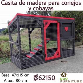 Casita Mini Deluxe Para Conejitos Y Cobayas