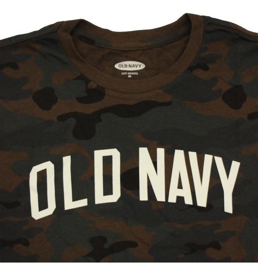 Playera Hombre Camuflaje Manga Corta Cuello Redondo Old Navy