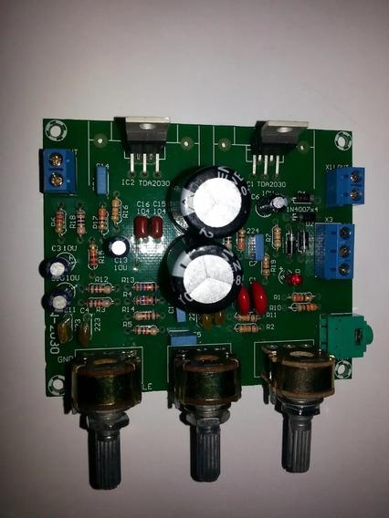 Placa Amplificador Estereo Completa Tda 2050 C/ Fonte