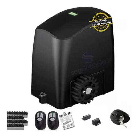 Kit Motor 1/5hp Portão Deslizante 300kg Rcg 4 Cremalheiras