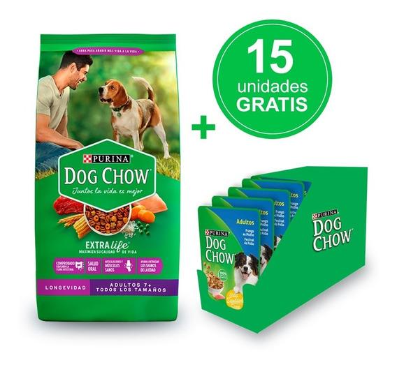 Dog Chow ® Longevidad (7+) 21kg + Alimento Húmedo Gratis