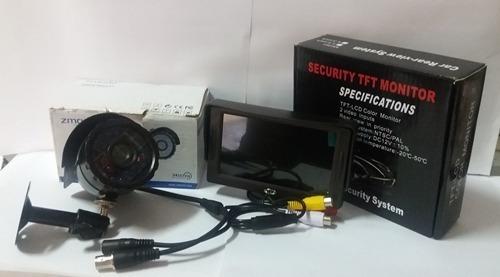 Monitor, Pantalla Con Cámara De Seguridad