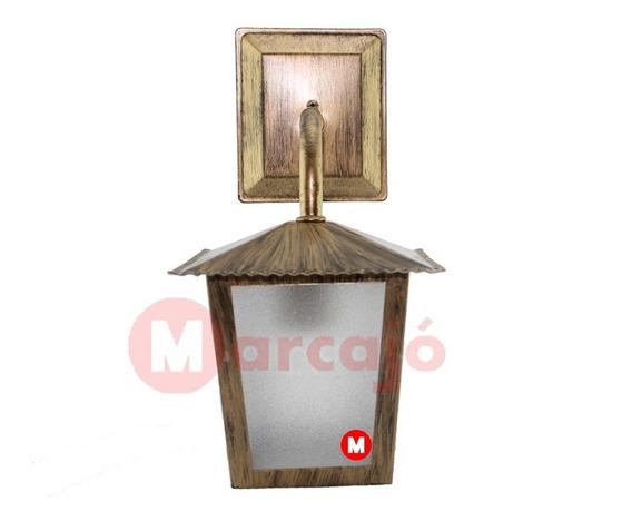 Luminária Arandela Colonial Quadrada L2b - Ouro Velho