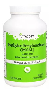 Msm Enxofre Orgânico 1500mg-120 Tablets -vitacost Importado