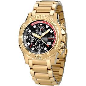Relógio Festina - F16287/1 -alarm-chrono Dourado