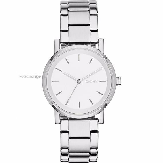 Reloj Dama Ny2342 Donna Karan Corona Blanca Ext Metal