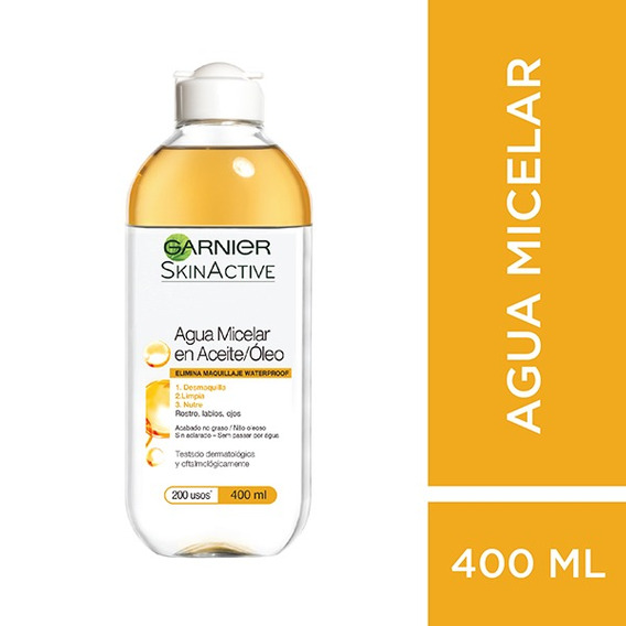 Agua Micelar Bifásica Garnier Skin Active X 400ml