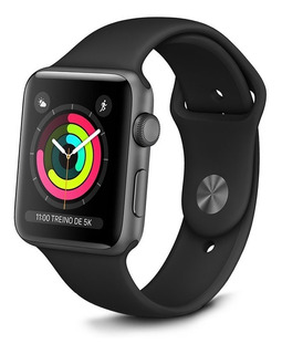 Relogio Watch Series 3 38mm Gps Preto Mtf02ll/a Apple