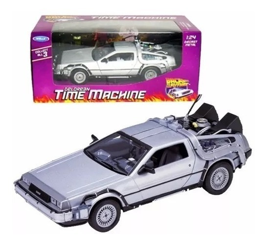 Auto Delorean Volver Al Futuro 1 1.24 Welly