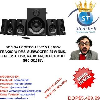Bocina Logitech Z607 5.1 ,160 W Peak/80 W Rms, Subwoofer 25