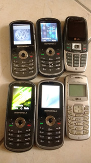 Celular Motorola E LG Usados (6 Unidades)