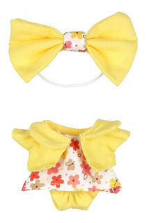Vestido Flores Saco Amarillo Atole Distroller
