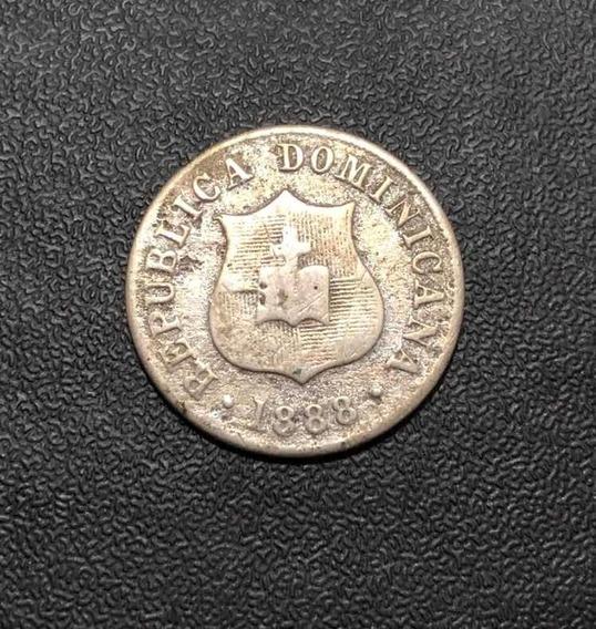 Moeda Antiga 1888 Republica Dominicana 2 1/2 Centavos