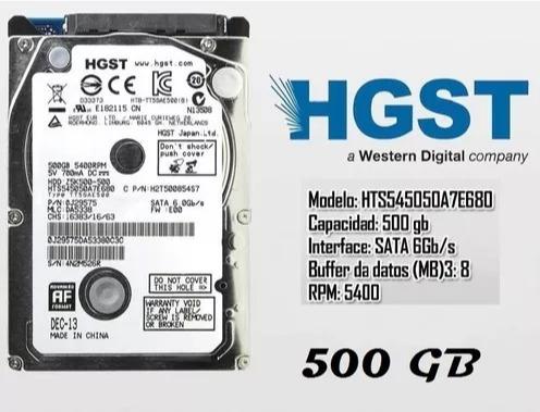 Disco Rigido 500gb Hgst