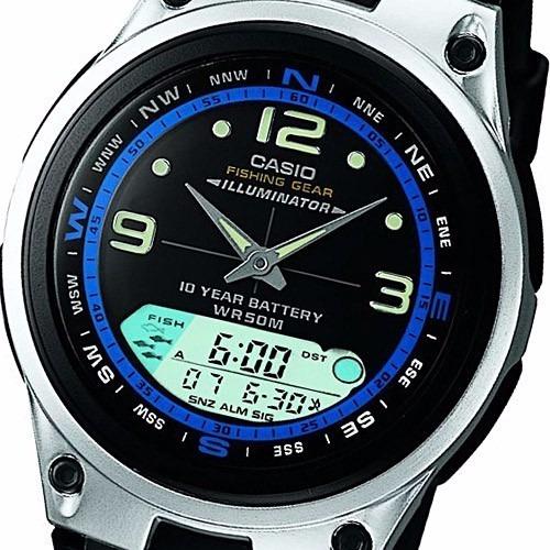 Relogio Casio Aw 82-cores Pescador Luas Cronômetro Timer