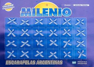 120 Escarapelas Moño C Alfiler - Milenio- Calidad Premium