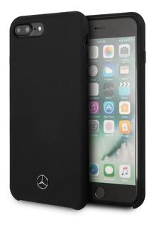 Funda Case Mercedes Benz Silicon Negra iPhone 6+7,8 Plus