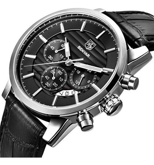 Benyar Cronógrafo Impermeable Relojes De Negocios Y Deporte