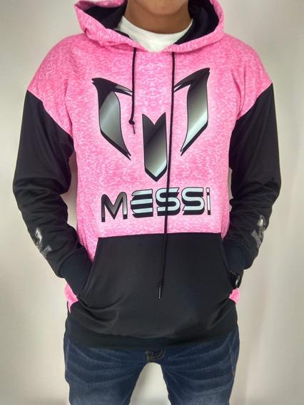 Messi Rosa Sudadera Sublimada Microfibra Dry Fit
