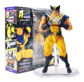 Boneco Articulado Wolverine Logan Xmen Marvel Tamanho: 15cm