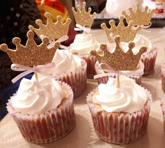 Topper Pinches Para Cupcakes De Corona Con Moño