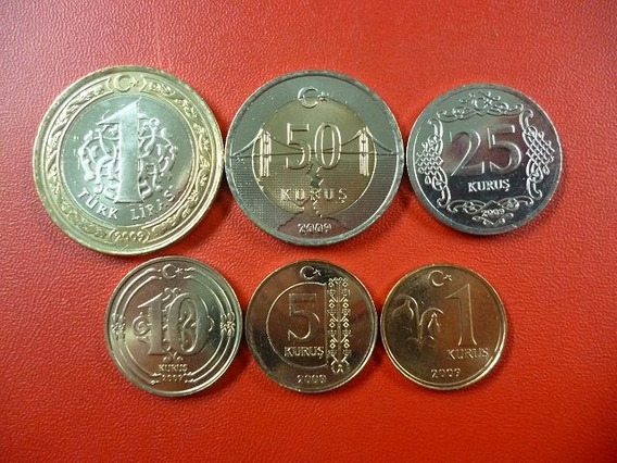 Turquía Set 6 Monedas Kurus Mustafa Kemal 2009 - 2010 Unc