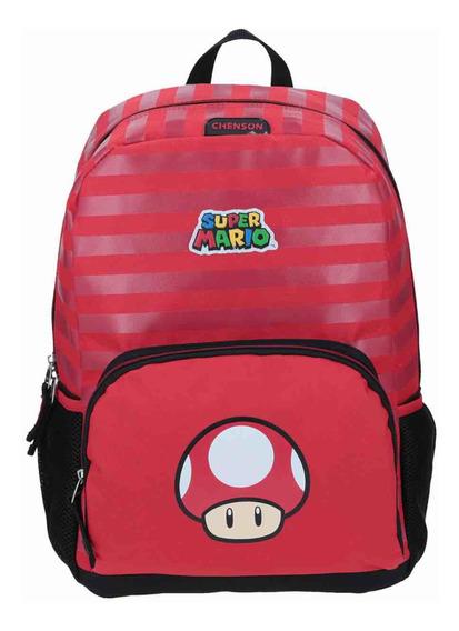 Mochila Escolar Niño Chenson Super Mario Original Mb63654