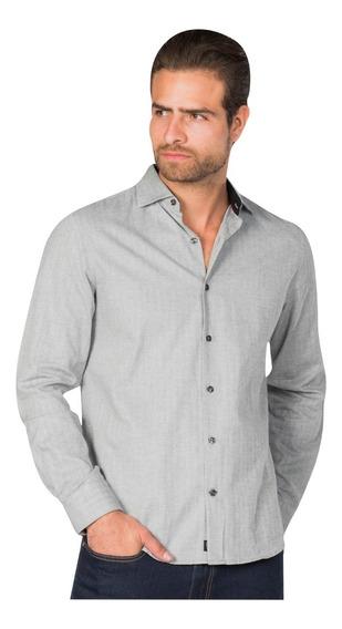 Camisas Hombre Casual Slim Fit Moda Franela B85325