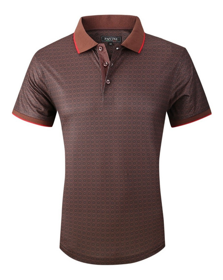 Playera Caballero Polo Marca Pavini Original P3012 Cafe