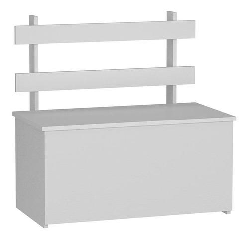 Imagem 1 de 4 de Caixa Para Lenha Branca 73cm Cl01 Fellicci Móveis
